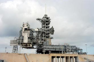 Launch Complex 39A stands ready for processing activities.