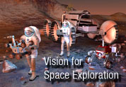 Banner for the Vision for Space Exploration