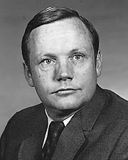 Neil A. Armstrong was an American astronaut. He was the first person to set foot on the moon.