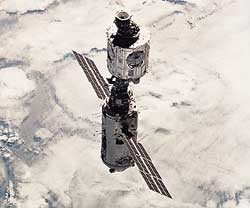 Two modules of the International Space Station were launched and assembled in 1998 by the United States and Russia.