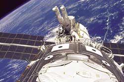 The first two modules of the International Space Station were assembled in December 1998.