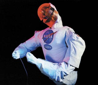Pictured is one of NASA's human-like robots called Robonauts.