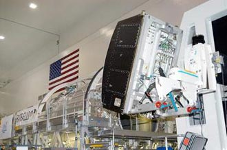 Raffaello, one of three Italian-made Multipurpose Logistics Modules, will carry cargo to the Space Station.