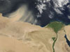 Satellite photos of Egypt and Libya