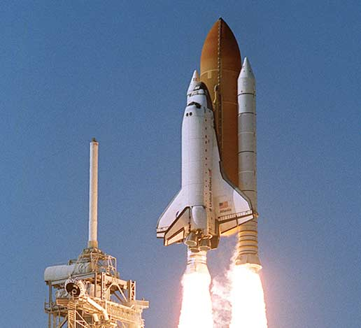 space shuttle launch from station - photo #26