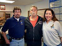 Gary Dalrymple (left) and Mary Wilms meet with OCC's Paul Teutul Sr.