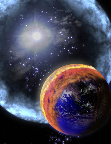 Artist's concept of a nearby gamma-ray burst