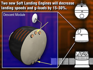Graphic showing locations of two new landing engines