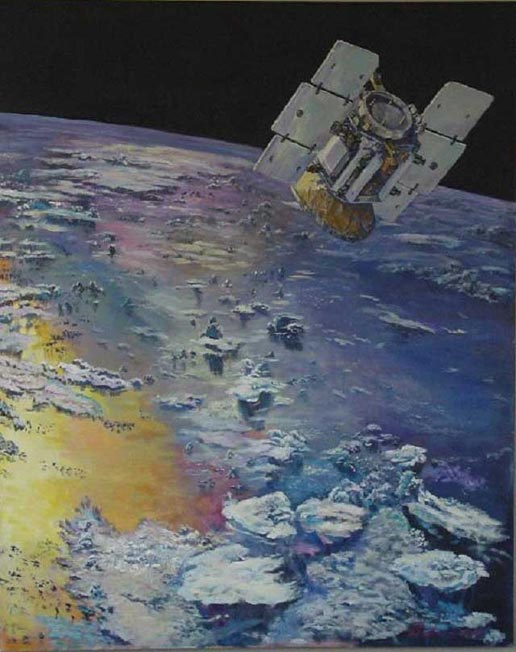 artist's concept of CloudSat