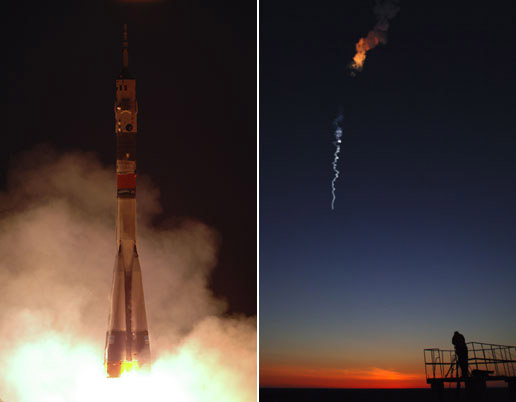 Soyuz spacecraft blasts off
