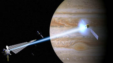 Artist's concept of Magbeam station at Jupiter