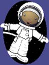 Cartoon image of a girl astronaut