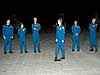 STS-114 crew members arrive at Kennedy Space Center