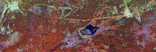 Radar image of Great Wall of China