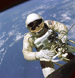 Astronaut Ed White on his first spacewalk
