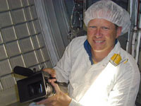 Dave Brown with video camera. Photo credit: Science Channel/Estate of Dave Brown