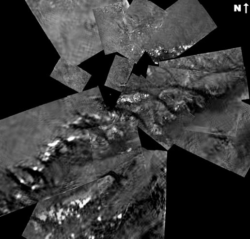 Titan surface mosaic