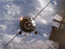 Progress spacecraft approaches the Station