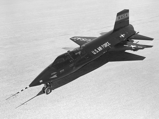 X-15 ship #1 on lakebed