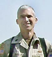 Lt. Col. William McQuade, serving in the U.S. Army in Baghdad, Iraq, normally works on the Space Shuttle at the Kennedy Space Center in Florida.