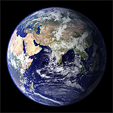 A satellite image of the Earth