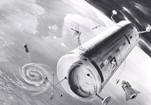Concept drawing of the Air Force's Manned Orbital Laboratory