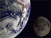 Image of the Earth and Moon taken by the Galileo spacecraft