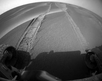 Opportunity moved out of sand trap