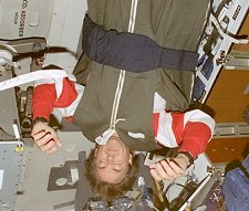 Astronaut upside down