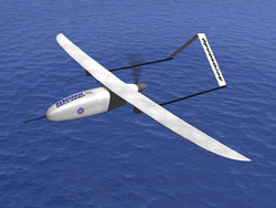Image of an aerosonde robotic aircraft.