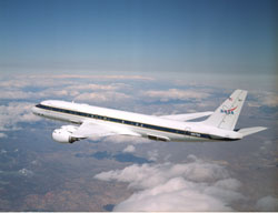 Image of a DC 8 aircraft.