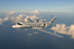 Image of a Gulfstream aircraft.