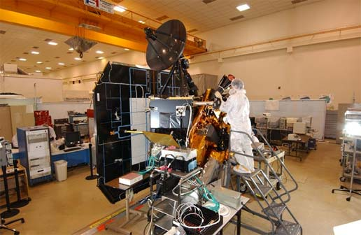 Deep Impact Spacecraft Assembly