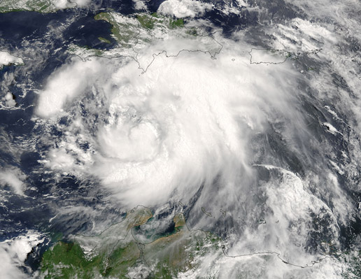 Image of Tropical Storm Dennis from a MODIS Dataset