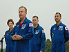 STS-114 crew arrives at Kennedy Space Center, Fla.