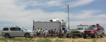 dust devil research team and vehicles