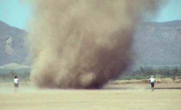 Researchers chase large dust devil on June 8