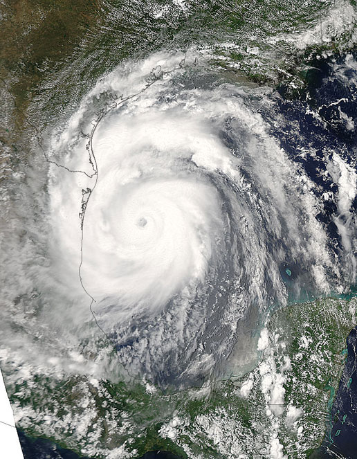 Hurricane Emily as seen by Aqua on July 19, 2005.