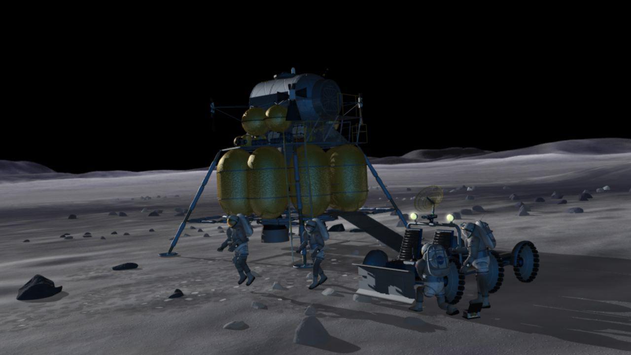 rocket landing on moon - photo #21