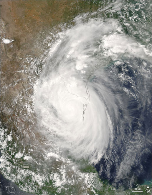 Hurricane Emily seen on July 20, 2005 by the Aqua satellite.