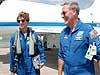 Discovery crew returns to Kennedy Space Center, Fla.