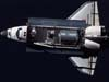 Space Shuttle Discovery is viewed from the ISS