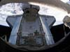 A camera on the ISS captured this image of the docked Space Shuttle Discovery's payload bay