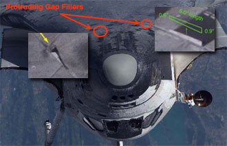 Location of protruding gap fillers on Discovery