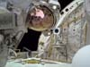 Mission Specialist Steve Robinson floats in the cargo bay