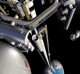 Artist's concept of the space elevator