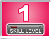Picture of a number 1 with skill level bar indicator