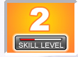Picture of a number 2 with skill level bar indicator