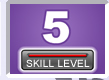 Picture of a number 5 with skill level bar indicator