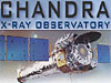 The words Chandra X-ray Observatory above an image of the x-ray observatory